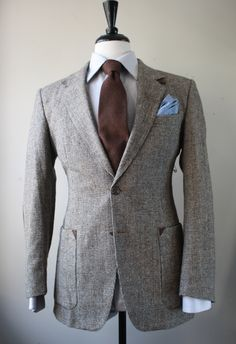 Tweed Blazer with Brown Elbow Patches - Mr. Goodwill Hunting.  Cuuuuute.