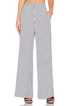 Shop for House of Harlow 1960 x REVOLVE Mona Pant in White & Black Stripe at REVOLVE. Glamorous Evening Gowns, Kinds Of Clothes, Fashion Essentials, Wide Leg Trousers, Palazzo Pants, Blouse Styles, Revolve Clothing, Dressmaking, Black Stripes