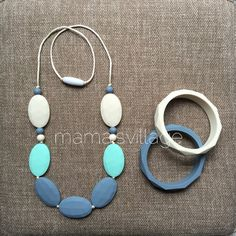 Silicone Teething Necklace & Bangle Set  Hannah by MamasVillage