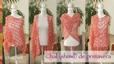 Chal de primavera tejido a crochet