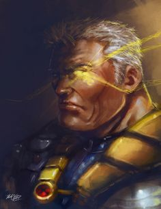 Cable (by: Mark Clark) Comic Book Characters, Marvel Characters, Comic Character, Comic Books Art, Comic Art, Book Art, Marvel Comics Art, Marvel Dc Comics, Marvel Heroes