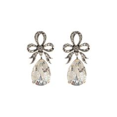 Greenwich Jewelers - Azaara Silver Plated Swarovski Crystal Pear Shape... ($195) ❤ liked on Polyvore featuring jewelry, earrings, accessories, brincos, joias, jewel earrings, swarovski crystal jewelry, swarovski crystal drop earrings, jewels jewelry and swarovski crystal earrings