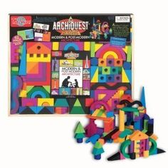 ArchiQuest takes the concept of playing with blocks and turns into a technique for actually learning about styles of architecture. This detailed block set includes over 100 wooden blocks and a solid-wood storage box. And if you're intrigued by this concept, ArchiQuest also produces numerous other building block sets.