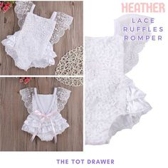 Don't you just wish your little princess would stay this tiny and cute forever 😍👸😍 .Lacey and ruffles ~ Sweet and dreamy HEATHER Lace Ruffles Romper 0-18M . . . . #thetotdrawer #baby #babies #babygirl #babyclothes #babyfashion #romper #lace #ruffles #princess #kidsfashion #kidstyle #kidswear #staykidforever #ig_kids #ig_baby #instababy