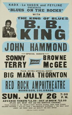 B.B. King - Globe Poster Classic Screenprint. $27.00, via Etsy.