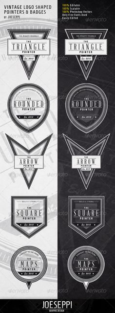 Vintage Shaped Pointers & Badges