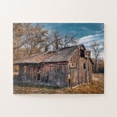 Old Country Barn Jigsaw Puzzle - photography gifts diy custom unique special