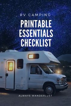 A camping trip can last days or weeks, and if you've never hit the road in an RV before, you might not know where to start. Whether you're heading out for a weekend or the rest of your life, there a few things that you need to turn your caravan into a home and save some headaches along the way. Camping Hacks, Camping Essentials List, Rv Camping Checklist, Camping Packing, Camping List, Packing Tips For Travel, Family Camping, Camping Gear, Outdoor Camping