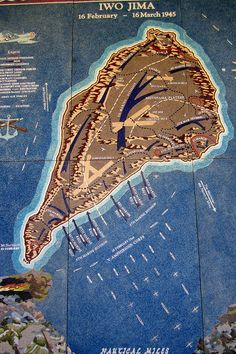 Map showing the American advances on Iwo Jima. Fighting was fierce on this island. It seemed as though the closer the Americans got to Japan, the more fierce and fanatical Japanese resistance was. American History Lessons, Us History, Ww2 Facts, Battle Of Iwo Jima, Military Tactics, History Classroom, Historical Pictures, Military History, World War Two