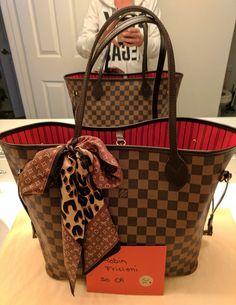 0fdbac1da 2016 LOUIS VUITTON NEVERFULL MM Damier Ebene Hand Shoulder Tote Bag  Authentic Louis Vuitton Neverfull Price