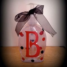 Monogrammed soap container