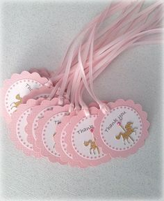 Pink gold. Set of 20 Carousel horse birthday party by FiestaBella, $20.00