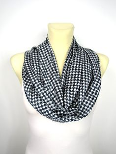Black Silk Scarf - Geometric Infinity Scarf - Loop Scarf - Circle Fabric Scarf - Women Shawl - Unique Fashion Shawl - Satin Scarf