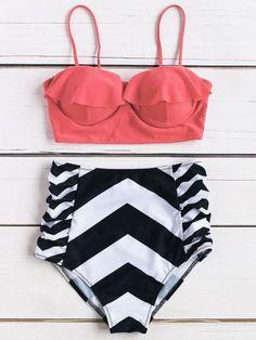 3582dcfdc1cbd 20 Best Chevron bathing suits images | Swimsuit, Beachwear fashion ...