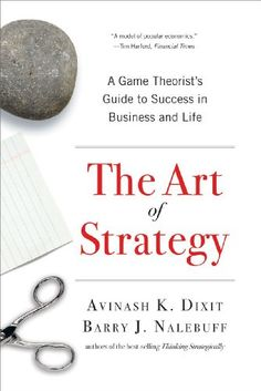 Bestseller Books Online The Art of Strategy: A Game Theorist's Guide to Success in Business and Life Avinash K. Dixit, Barry J. Nalebuff $11.62  - http://www.ebooknetworking.net/books_detail-0393337170.html