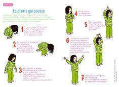 petit yoga de pomme d'api : la  plante qui pousse Brain Gym, Relaxation Meditation, Relaxing Yoga, Yoga Gym, Yoga Fitness, Yoga Bebe, Yoga Position, Baby Yoga, Online Yoga