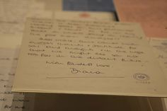 Original letter from Princess Diana to Princess Grace displayed at the exhibit.