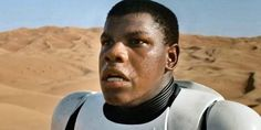 """Meet Finn, he's one of the new heroes in Star Wars: The Force Awakens. He starts off as a Stormtrooper. 