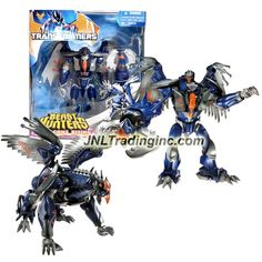 """Hasbro Year 2013 Transformers Prime """"Beast Hunters - Predacon Rising"""" Series Exclusive Voyager Class 7 Inch Tall Robot Action Figure - Predacon DARKSTEEL with Eagle-Head Grapple Launcher and Claw Grapple Missile (Beast Mode: Griffin)"""