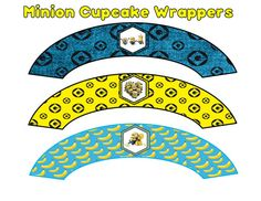 Minion Cupcake Wrappers INSTANT DOWNLOAD by ATimeToRememberDPK