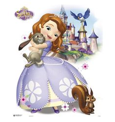 OEM Sofia The First Princess Cartoon newest pattern wallpaper stickers Mural Art Home customized cute retro poster decor gifts