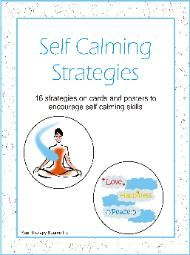 Self Calming Strategies - #anxiety