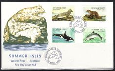 1983 MARINE MAMMALS FIRST DAY COVER