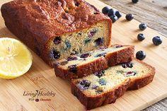 Paleo Blueberry Bread with Lemon Glaze