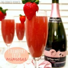 strawberry crush mimosas.  making these for valentines day!