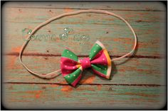 multicolor hair bow headband fabric bow hair bow by CeannaPaige Fabric Bow Headband, Fabric Bows, Newborn Headbands, Trendy Baby, Hair Bows, Christmas Ornaments, Trending Outfits, Holiday Decor, Unique Jewelry