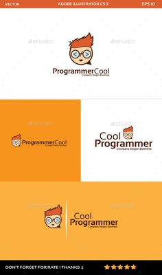 Buy Programmer Logo by DickyPanugerahaner on GraphicRiver. Programmer cool and chat : is a logo that can be used in design studios and web, marketing companies, software develo. Logo Design Template, Logo Templates, Logos, Logo Branding, Logo Face, Logo Gallery, Service Logo, Company Slogans, Information Graphics