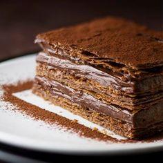Milhojas con mousse de chocolate - Recetas de Cocina - Telva.com: