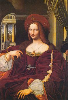 Isabella of Naples Duchess of Milan,wife of Gian Galeazzo,by Raphael,1480-90