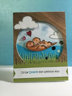 Lawn Fawn Year 5 Otter on Pinterest | Birthday Cards, Happy ...