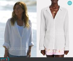 Greys Anatomy Set, Grey's Anatomy, Fashion Capsule, Fashion Outfits, Meredith Grey, White Button Down, Other Outfits, Grey Fashion, Button Up Shirts