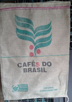 Cafes Do Brasil Burlap Coffee Sack / Bag By NaturalGemDesigns Home Decor, Furniture  Recovering,