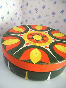 A fab retro vintage 1960s 1970s shabby chic storage biscuit or cake tin | eBay