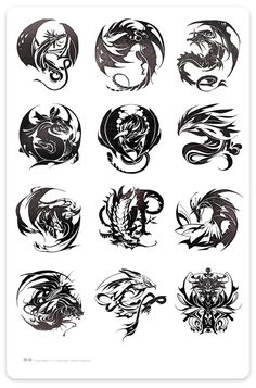 """Dragon Raja 01-12 "" novel's totem design in Taiwan version. Spring International Publishing. Illustration by Blaze Wu. 2008 Jan ~ Dec."