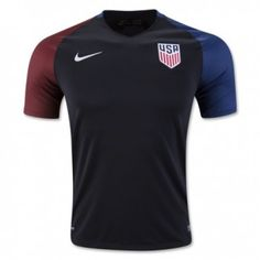 2016 USA Away Black Thailand Soccer Jersey