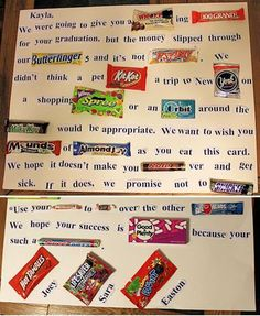 Graduation Candy Bar Letter