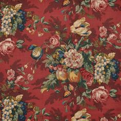 The classiest of the classics. Queensland Crimson by P. Kaufmann is a lovely floral drapery décor fabric. Perfect for projects like curtains, tote bags, home accents, and more, this fabric is made to last and will always be in style.
