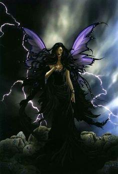 Dark Fairy Fantasy Art. Fae. Faery. Fae.