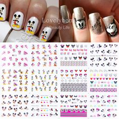 12 Sheets 12 styles Nail Art Water Transfer Sticker Decals Cute Mickey  Mouse Cartoon Stickers Wraps Tips Decoration This is an AliExpress  affiliate pin. 67e794257fe9