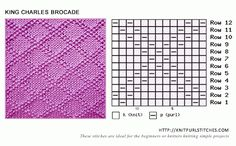 King Charles Brocade knitting pattern - Knit and Purl stitches