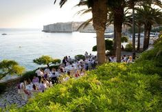 View from Palm Terrace at Hotel Excelsior in Dubrovnik
