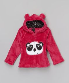 Look what I found on #zulily! Fuchsia Panda Plush Zip-Up Hoodie - Infant by Girls Rule #zulilyfinds