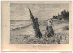 """Im Vorbeigehen - , Druck, ausgeschnitten  aus """"die Gartenlaube"""", 1897"""
