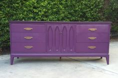 Los Angeles: Autumn Purple and Bronze Mid Century Modern Dresser $425 - http://furnishlyst.com/listings/556438