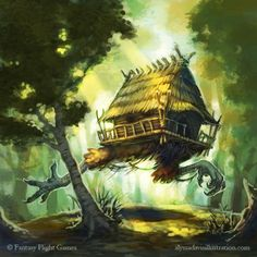 Baba Yaga's Hut by KaiserFlames.deviantart.com on @DeviantArt✖️Fosterginger.Pinterest.Com.✖️More Pins Like This One At FOSTERGINGER @ Pinterest ✖️No Pin Limits✖️