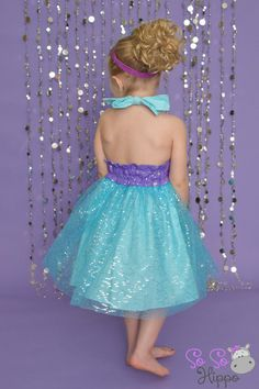 Ariel sequin sparkle dress by SoSoHippo on Etsy